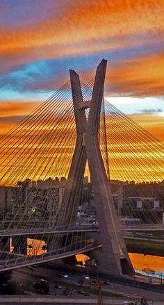 Ponte Estaiada, Sao Paulo, Brazil