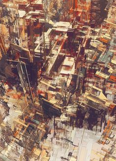 Cities IV / Deconstructed - atelier olschinsky Kandinsky, Architecture Drawings, Deconstruction, Urban Art, Art Direction, Painting & Drawing, Concept Art, Filter, Street Art