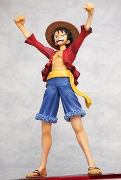 Expressive Anime One Piece Portrait Of Pirates Pop Monkey D Luffy Pvc Figure Collectible Model Toy 23cm Toys & Hobbies
