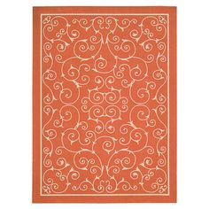 Add an eye-catching pop of style to your foyer, patio, or poolside with this chic indoor/outdoor rug.  Product: RugConstr...