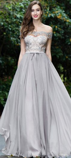 eDressit Grey Off Shoulder Lace Evening Gown