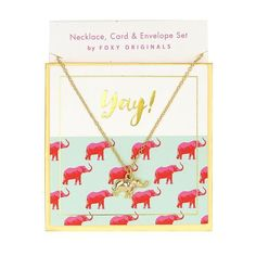 Yay Sweet Notes Necklace in Gold