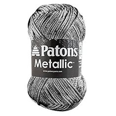 Amazon.com: Patons Metallic Yarn - (4) Medium Gauge - 3 oz - Pewter - For Crochet, Knitting & Crafting