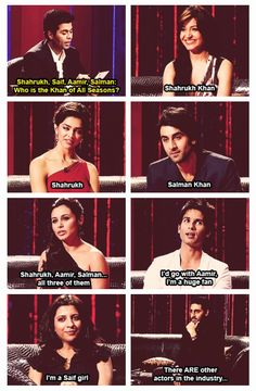 On Karan Johar's talk show... Anushka, Deepika, Ranbir, Rani Shahid, Zoya, and then there's Abhishek