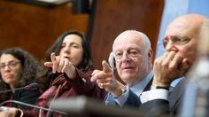 دي ميستورا يعرض جدول أعمال جنيف-4 على وفدي المعارضة والنظام