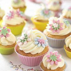 Lemon cupcakes with lemon buttercream frosting.