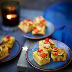 Mushroom And Red Pepper Pizzetta Canapés. For the full recipe, click the picture or visit RedOnline.co.uk