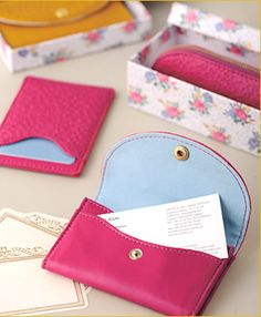 floral pencase, pass case and business card case.