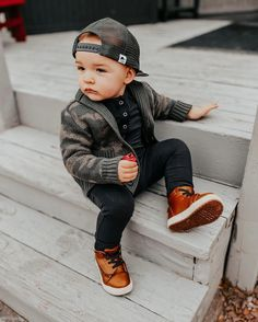 Cute Baby Boy Outfits, Little Boy Outfits, Toddler Boy Outfits, Cute Baby Clothes, Toddler Boy Clothing, Little Boy Style, Little Boy Swag, Unisex Clothes, Cool Kids Clothes
