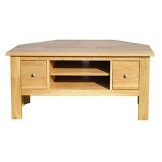 """Solid Oak TV Corner Cabinet - up to 50"""" TVs"""