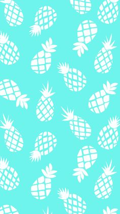 pineapple pattern turquoise white