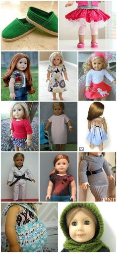 Free American Girl 18 Doll Clothes Patterns*--hooded scarf How to Make American Girl Doll Clothes - a complete guide to free American Girl patterns to make your own clothes for 18 Sewing Doll Clothes, Baby Doll Clothes, Crochet Doll Clothes, Sewing Dolls, Barbie Clothes, Crochet Dolls, American Girl Crafts, American Doll Clothes, American Girls
