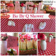Ba-By-Q Shower. Need a great co-ed shower idea? Why not throw a Baby-Q?! www.newsanchortohomemaker.com {bbq baby shower}