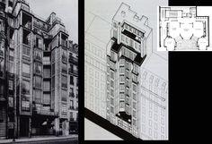 Auguste Perret. Imobil Str. Franklin - Paris 1903