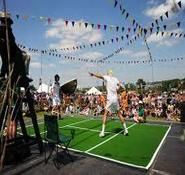Our comedy tennis match players are perfect for Wimbledon themed events, tennis themed events and sporting events. Available to hire in London and across the UK