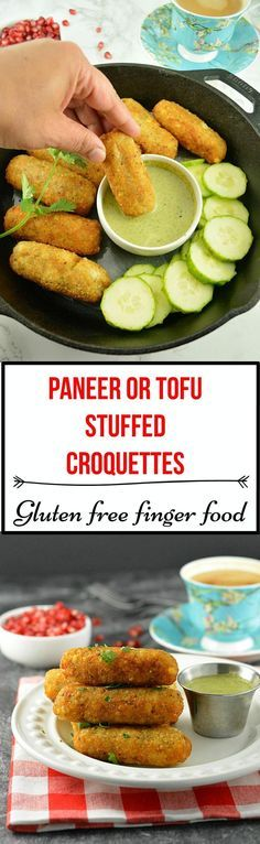 Paneer or Tofu Stuffed Croquettes- Enjoy these gluten-free Indian cottage cheese stuffed croquettes made with tapioca, millet and potatoes!