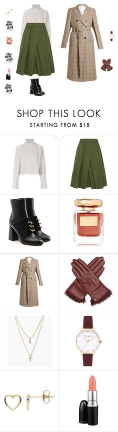 """Wool trench"" by mariagraziatrotta ❤ liked on Polyvore featuring Golden Goose, Jil Sander, RED Valentino, By Terry, Calvin Klein 205W39NYC, Reiss, LOFT, Olivia Burton, Estella Bartlett and MAC Cosmetics"