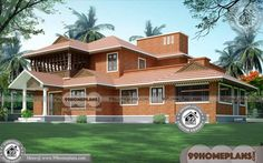 Kerala Nalukettu Images & Indian Modern House Plans And Elevations Two Storey House Plans, 2 Storey House Design, Double Storey House, House Front Design, Small House Design, Home Design Images, House Design Pictures, Small Modern House Plans, Simple House Plans