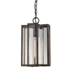Elk Lighting 45147/1 Bianca 1 Light Outdoor Pendant in Hazelnut Bronze