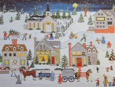 preparing for Christmas cross stitch pattern | Gorgeous Betty Friess Baumer PREPARING FOR CHRISTMAS Picture By Rain ...