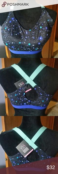 Victoria Secrets Sports Bra BNWT, very nice and has good support. Awesome colors, and its a size 36D To big for me, but i think its adorable. Victoria Secrets  Intimates & Sleepwear Bras