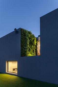 Three outdoor vertical gardens for a private house in Portugal. Indoor Garden, Indoor Outdoor, Home And Garden, Outdoor Decor, Vertical Garden Design, Vertical Gardens, Garden Architecture, Architecture Design, Bauhaus Design