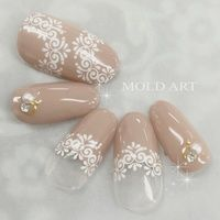 Lace Nail Art, Lace Nails, Flower Nails, Arabesque, Japan Nail, Nail Photos, Daily Nail, Summer Acrylic Nails, Stamping Nail Art