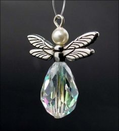 Angel Drop featuring TierraCast Dragonfly Wing bead.