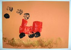 Make a tractor with potato prints! Fun for a Harvest, farm or tractor topic. Harvest Festival Crafts, Harvest Crafts, Tractor Crafts, Tractor Coloring Pages, Tractors For Kids, Harvest Day, Potato Print, Rainy Day Activities, Preschool Art