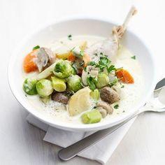 creamy soep met kip