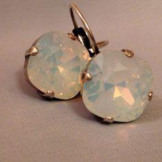 Sabika like swarovski crystal earrings mariana inspired white opal on Etsy, $44.99
