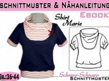 """Schnittmuster/Anleitung Ebook Shirt """"Marie"""" 36-44"""