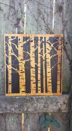 BIRCH TREES Tree Silhouette Art Image On by UniquePrimtiques