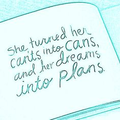 turning dreams into plans