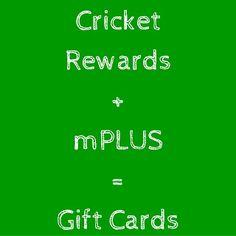 Du bist Cricket Wirless Kunde oder planst zu, dann solltest du checken ob du nicht schon unbemerkt Punkte für Gift Cards angesammelt hast! Lese hier wie du mit Cricket Rewards und mPlus Gift Cards bekommen kannst. #giftcard   #mplus   #UsaBilligAberGutLeben