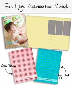 1yr celebration card