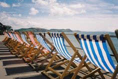 Deck chairs at the ready for an English summer!