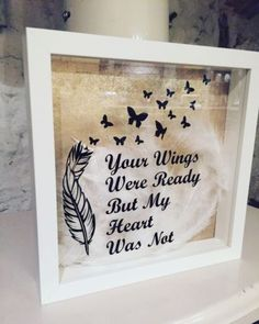 Box frame handmade #homemade #craft #wings memorial heart love feathers , View more on the LINK: http://www.zeppy.io/product/gb/2/262430469465/