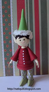 brilliant paper quilled ELF!!! : )