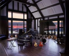Allaire Studios in Ulster County, NY provides a quite getaway with great acoustics and a beautiful Reservoir. #RecordingStudios #AmazingView