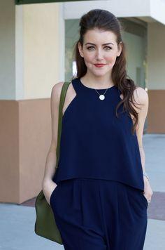 Navy Jumpsuit   Dallas Wardrobe   Fashion Blog   Style Consultant