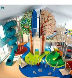 45 Trendy Home Gym Kids Indoor Play Kids Indoor Playground, Playground Design, Playroom Design, Kids Room Design, Playroom Ideas, Girl Bedroom Designs, Kids Bedroom, Indoor Playroom, Kids Play Spaces