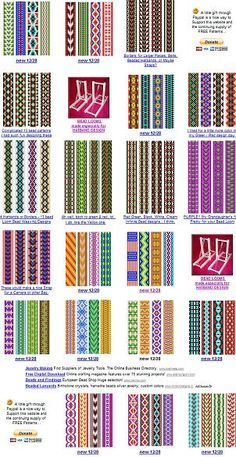 "Easy Beading Patterns for Looms - Bing images ""For the Inkle loom patterns / esquemas"", ""free bead patterns for the loom. Maybe use these for Fair Isle Beading Patterns Free, Seed Bead Patterns, Jewelry Patterns, Beading Ideas, Beading Supplies, Knitting Patterns, Art Patterns, Color Patterns, Inkle Weaving Patterns"