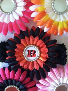 Cincinnati Bengals Baby Hair bow Clip headband by littlebabytique, $6.99