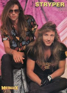 Stryper Band | STRYPER pinup – Pic of two hot band members! Great hair!