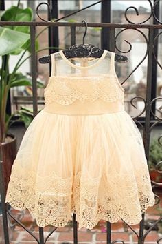 We love this dress...great fit, and super soft tulle and lace make it comfortable (and not scratchy) for your little one. Also available in Ivory. Sizes 2, 4, 6, 8 and 10.