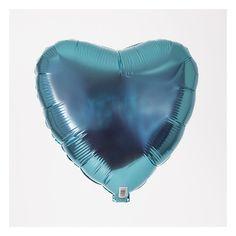 Ballon mylar coeur bleu clair