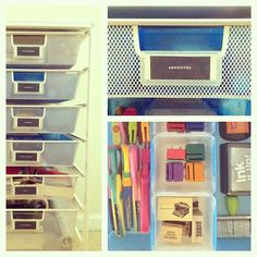Everything can be organized with our elfa drawers!