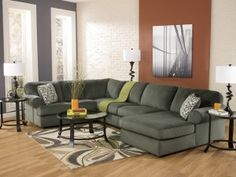Rent #Ashley Jessa Place Pewter 3 Piece Sectional from #bestway.Monthly rate $99.99