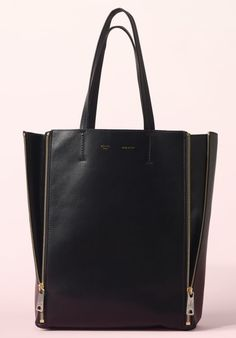 CELINE Small Gusset Cabas Smooth Lambskin Black